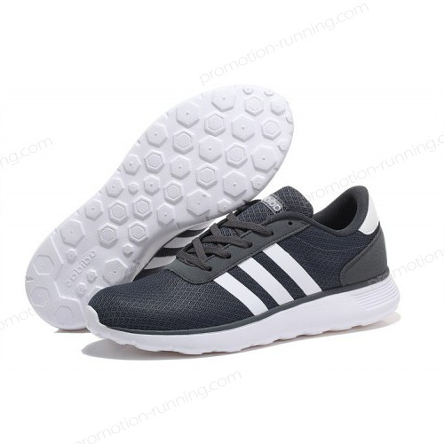 Adidas Neo Lite Racer Shoes Dark Grey/White Trainers At Low Price - Adidas Neo Lite Racer Shoes Dark Grey/White Trainers At Low Price-01-0
