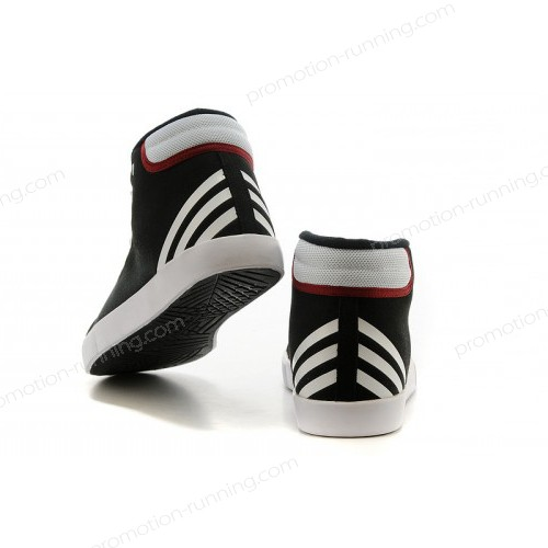 Adidas Neo High Tops Black/White/Bright Red Shoes At a Discount Of 45% - Adidas Neo High Tops Black/White/Bright Red Shoes At a Discount Of 45%-01-2