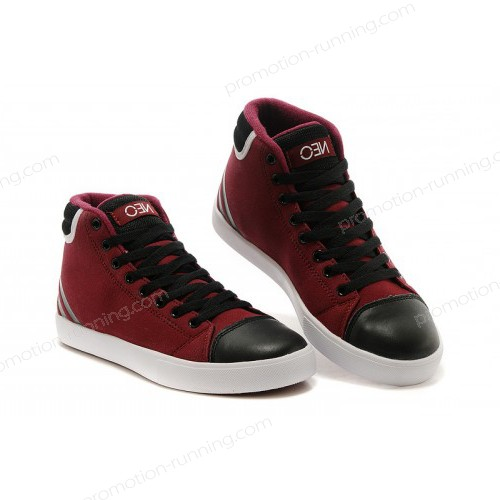 Adidas Neo High Tops Shoes Burgundy/Core Black/White Hot Of Nice Model - Adidas Neo High Tops Shoes Burgundy/Core Black/White Hot Of Nice Model-01-0