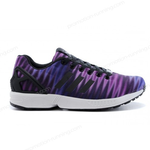Men's Adidas Originals Zx Flux Print Violet/Black Quick Expedition - Men's Adidas Originals Zx Flux Print Violet/Black Quick Expedition-01-2
