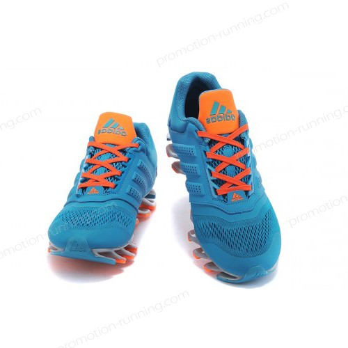 Men's Adidas Running Shoes Springblade Drive 2-0 Aqua/Orange Now With Lower Price - Men's Adidas Running Shoes Springblade Drive 2-0 Aqua/Orange Now With Lower Price-01-3