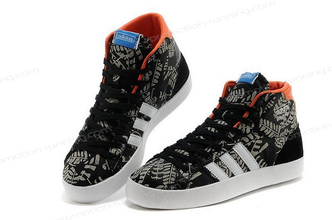Adidas Basket Profi High Tops Womens Black White Trainers Quick Delivery - Adidas Basket Profi High Tops Womens Black White Trainers Quick Delivery-01-5