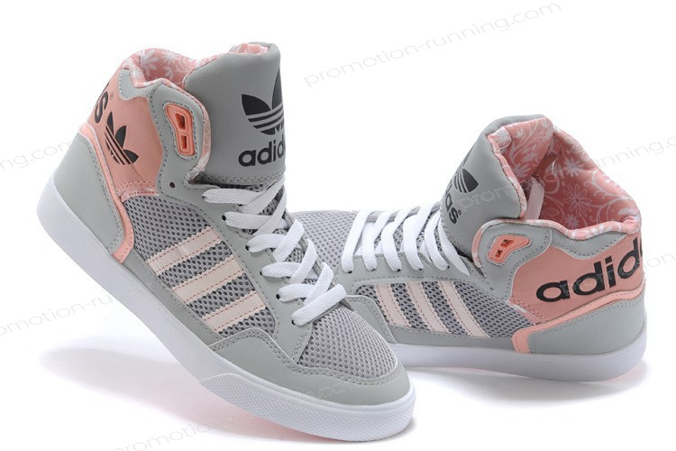 Adidas Extaball Womens High Tops m20173 Grey Pink Trainers With Nice Price - Adidas Extaball Womens High Tops m20173 Grey Pink Trainers With Nice Price-01-4