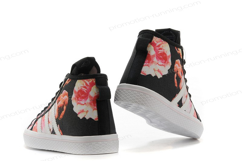 Adidas Honey Mid Stripes Wo For Men Canvas Floral Black Pink White Clearance With Good Price - Adidas Honey Mid Stripes Wo For Men Canvas Floral Black Pink White Clearance With Good Price-01-3