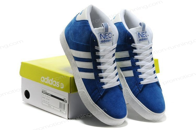 Adidas Neo High Tops Suede q38625 Blue White Trainers At Low Price - Adidas Neo High Tops Suede q38625 Blue White Trainers At Low Price-01-6