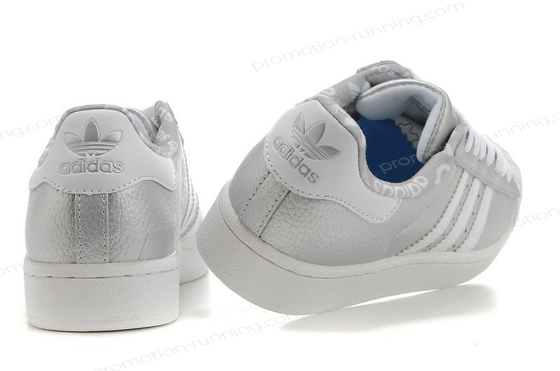 Adidas Superstar 2 Leather Silver White Shoes For Sale - Adidas Superstar 2 Leather Silver White Shoes For Sale-01-7