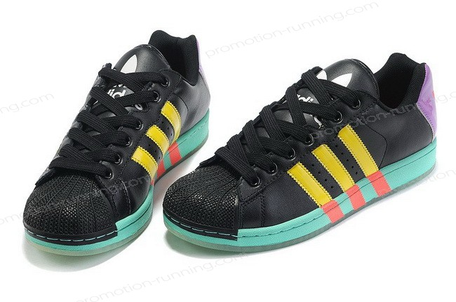Adidas Ultra Star g43823 Leather Black Purple Yellow Trainers On Discount - Adidas Ultra Star g43823 Leather Black Purple Yellow Trainers On Discount-01-5