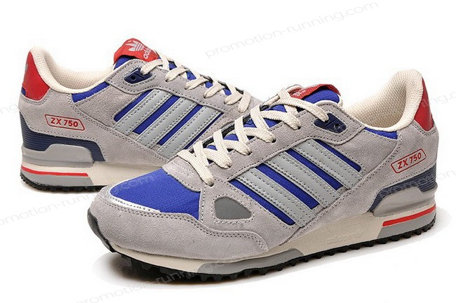 Adidas Zx 750 For Men Grey Blue Red Of Nice Model - Adidas Zx 750 For Men Grey Blue Red Of Nice Model-01-5