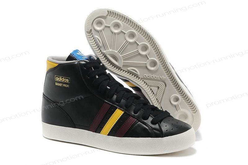 Adidas Basket Profi High Tops Leather Black Yellow Trainers With Quick Expedition - Adidas Basket Profi High Tops Leather Black Yellow Trainers With Quick Expedition-31