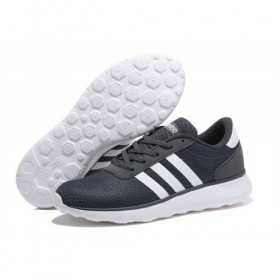 Adidas Neo Lite Racer Shoes Dark Grey/White Trainers At Low Price