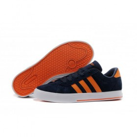 Adidas Neo Se Daily Vulc Suede Shoes New Navy/Orange f39075 Trainers Quick Delivery