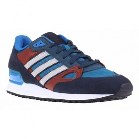 Adidas Originals Zx 750 Navy Blue/Bluebird/Burgundy/Runwhite At Half-Price