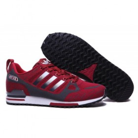 Men's Adidas Originals Zx 750 Flyknit Burgundy/Metallic Grey With Quick Delivery