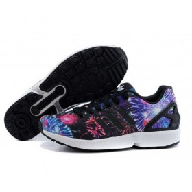 Clearance Adidas Originals Zx Flux Firework Prints Multicolor Dark Blue/Orange For Sale