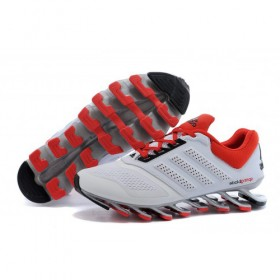 Men's Adidas Running Shoes Springblade Drive 2-0 White/Cardinal At Lower Price