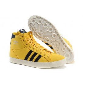 Adidas Basket Profi High Tops Jeans Yellow Black Trainers Shoes At a Discount Of 56%