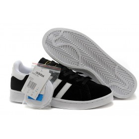 Adidas Campus 80s Suede Black White Gold At Low Price