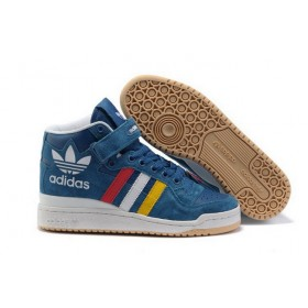 Adidas Forum Hi Tops Suede g50823 Multi-Color Blue Trainers Outlet With Reduced Price