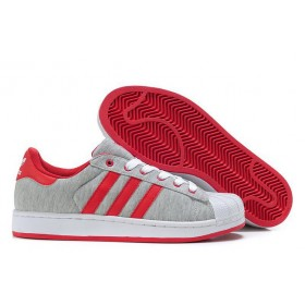 Adidas Superstar 2 g17252 Grey Red Shoes Of Nice Model