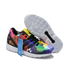 Adidas Zx Flux St-Tropez Womens Red Green Blue Issue At a Discount 58%